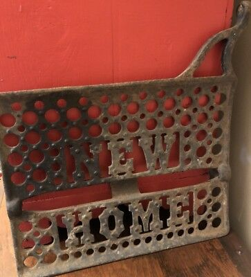 Vintage Antique NEW HOME Treadle Sewing Machine Cast Iron Foot Pedal