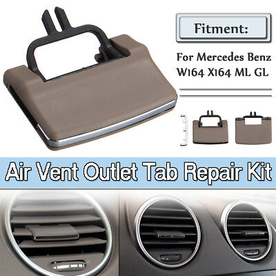 For Mercedes Benz W164 X164 ML GL A/C Air Vent Outlet Tab Clip Repair Kit Beige