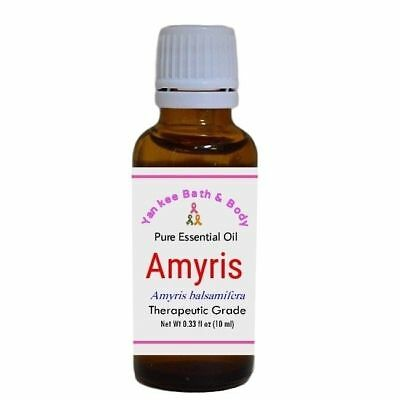 Amyris Essential Oil 10 ml, Therapeutic Grade, Pure and Natural - Yankee Bath...