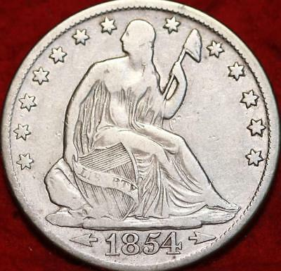 1854-O With Arrows New Orleans Mint Silver Seated Half Dollar