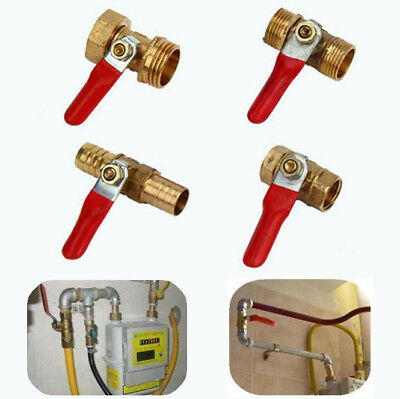 Brass Ball Valve Barb Male/Female Thread Connector For Water/Air/Gas Fuel Line