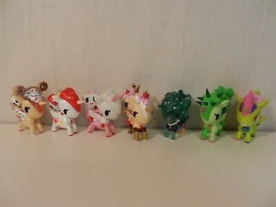 Unicorno & Friends - Common Set/Lot of 7 Tokidoki Unicorn Blind Box Figures
