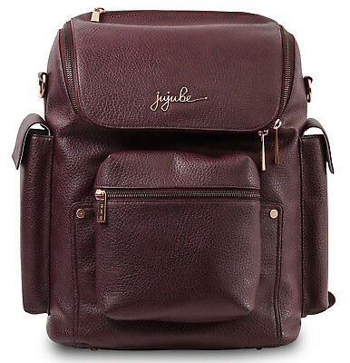 Ju Ju Be Ever Baby Diaper Bag Forever Backpack w/ Changing Pad Plum Rose NEW