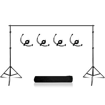 10Ft Adjustable Support Stand Photo Backdrop Crossbar Kit Photography Background