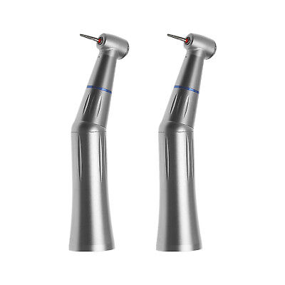 2PCS Dental Inner Water Push Contra Angle Handpiece fit High Speed FG 1.6mm Burs