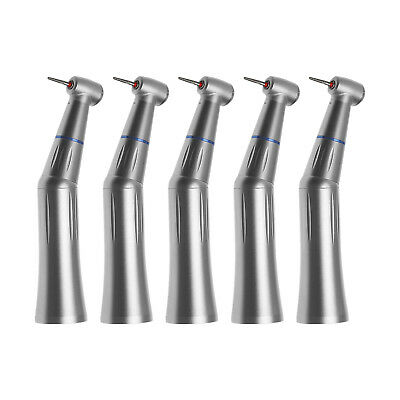 5PCS Dental Inner Water Push Contra Angle Handpiece fit High Speed FG 1.6mm Burs