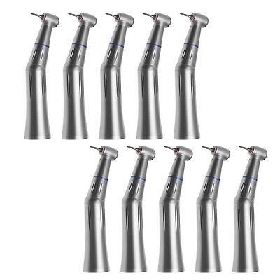 10PCS Dental Inner Water Push Contra Angle Handpiece fit High Speed FG 1.6mm Bur