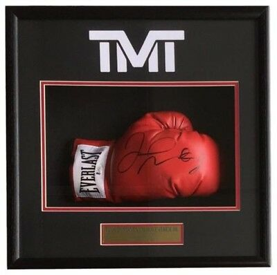 Floyd Mayweather Jr Signed Red Everlast Boxing Glove Shadowbox Beckett BAS