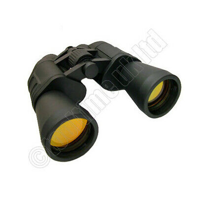 Rubberised High Power 10 X 50 Magnification Field Binoculars With Carry Case