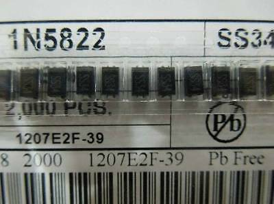 100PCS SS34 1N5822 3A/40V SMA DO-214AC Schottky Diodes NEW