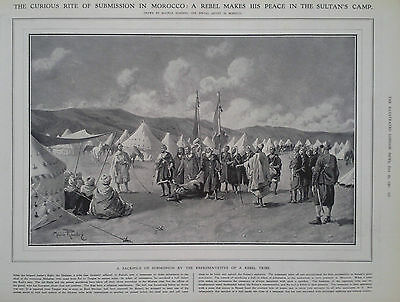 1907 Print A Rebel Makes His Peace With The Sultan Of Morocco -School In Tokio