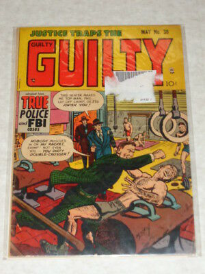Justice Traps The Guilty #38 Vg+ (4.5) Prize Comics May 1952