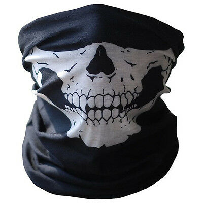 Latest Bicycle Ski Skull Half Face Mask Ghost Scarf Multi Use Neck Warmer COD PY