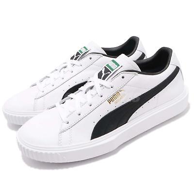 adde6629110c Puma Breaker LTHR Leather White Black Men Casual Shoes Sneakers 366078-02