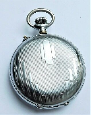 NO RESERVE c1930 Swiss Full Hunter Working Pocket Watch Vintage Antique