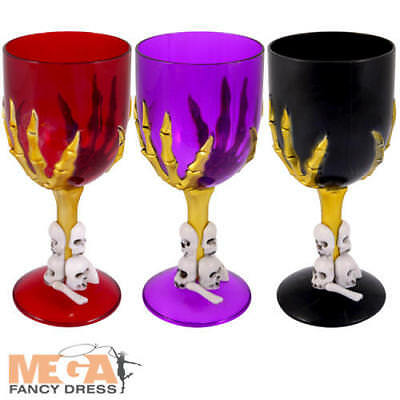 Halloween Goblet Cup Fancy Dress Spooky Scary Skeleton Hand Party Prop Accessory