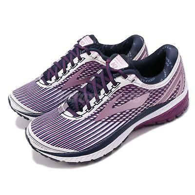 1cf549345a3c2 Brooks Ghost 10 White Purple Rose Women Running Training Shoes Sneaker 120246  1B