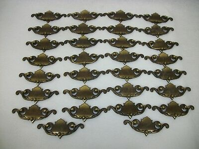 Estate Lot of 30 Vintage Furniture Hardware Brass Cabinet Drawer Pulls