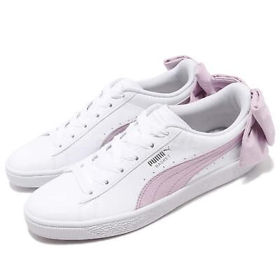 brand new 0daed fee33 Puma Basket Bow SB Wns White Winsome Orchid Women Casual Shoes Sneaker  367353-02