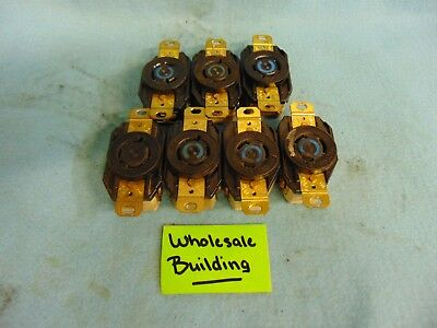 Hubbell Receptacle, Hbl2320, 20A, 250V, 2 Pole, 3 Wire **Lot Of 7**