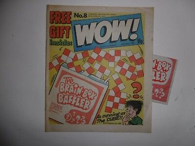 'Wow!' Comic No.8, 24th January, 1982, with Free Gift.