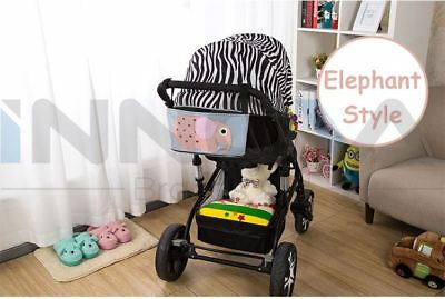 Pram Organizer Bag with Cup Holder for Pushchair Stroller Jogger ELEPHANT