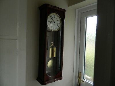 Large Weight Driven Wall Clock Westminster Chime Working Order