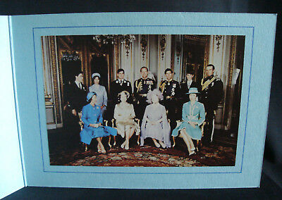 Royal Butler's Christmas Card Signed Queen Elizabeth & Prince Philip 1980