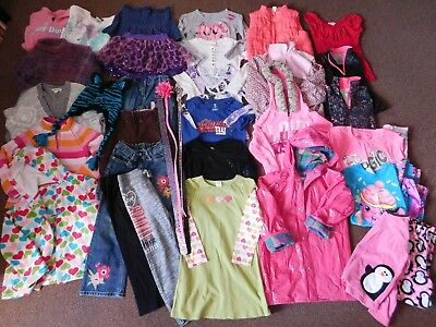 25+ piece Girls' Size 6 to 6/7 Fall & Winter Mixed Clothes Lot Justice Gymboree