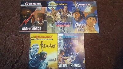 5 Old Commando Comics 3890 3894 3897 3900 3932