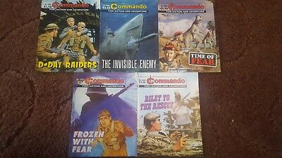 5 Old Commando Comics 3764 3880 3885 3886 3888