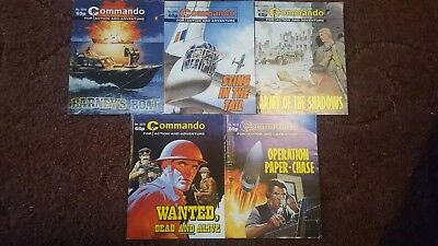 5 Old Commando Comics 3191 3213 3219 3228 3229