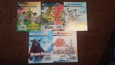 5 Old Commando Comics 2819 2820 1821 2822 2895