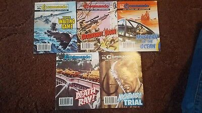 5 Old Commando Comics 2739 2735 2734 2718 2716