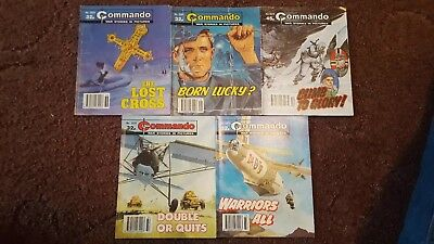 5 Old Commando Comics 2678 2394 2374 2371 2370