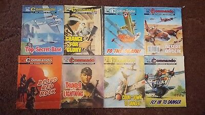 8 Old Commando Comics 1488 1497 1705 1851 2030 2214 2304 2699