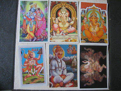 Six New  Postcards Of Hindu Gods