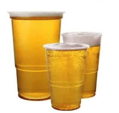 Plastic 1/2 Half Pint-1 Pint Disposable Clear Beer Glasses Cups Tumblers Clear