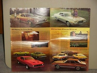 "1972 ""ORIGINAL"" FORD FULL LINE w  TORINO MUSTANG DEALERSHIP SALES BROCHURE"