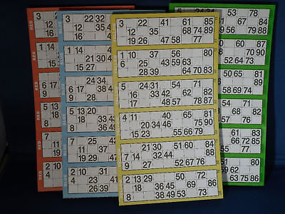 2400  Jumbo Bingo Tickets  Choose your colours Red Blue Green Yellow