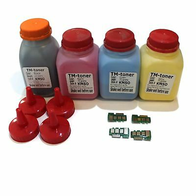 4 color Toner refill with Chips for Samsung Xpress SL-C1810W C1860FW  cartridge