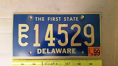 License Plate, Delaware, Riveted/Replacement, PC 14529