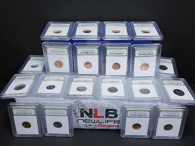 Lot of 20 Random Year 1¢, 5¢,10¢ & 25¢ PCGS case and slabbed coins