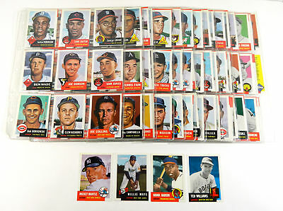 1991 Topps Archives 1953 Baseball Set In Binder Sheets (330) * Mantle Mays