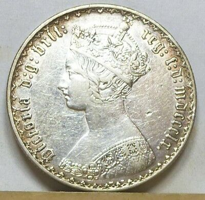Great Britain Gothic Florin 1860 Extremely Fine NO RESERVE