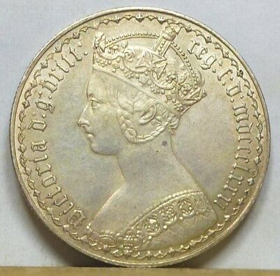 Great Britain Gothic Florin 1881 Extremely Fine + NO RESERVE