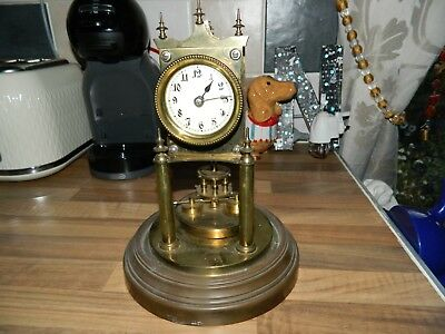 Gustav Becker Disc Pendulum Clock Spares Or Repair