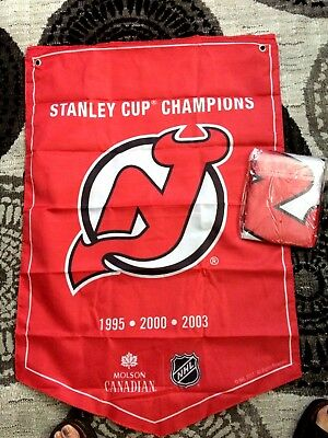 2018  Molson Canadian  Stanley Cup Champions Banner New Jersey Devils