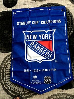 2018  MOLSON CANADIAN  STANLEY CUP CHAMPIONS BANNER  new york rangers  NEW