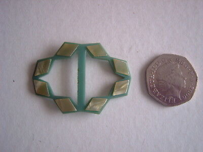 : Two Tone Green Plastic Buckle